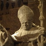 Pope John Paul II carved in salt