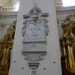 Chopin's heart rests in Church of the Holy Cross