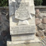 """Memorials around city  """"sanctified by the blood of the fallen Poles for the freedom of their homeland"""""""
