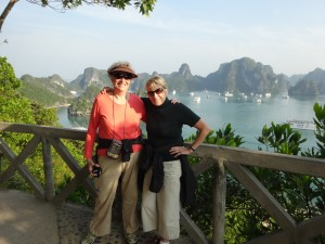 Roomie and me on Ti Top over Hạ Long Bay
