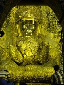 Mahamuni Pagoda and its very fat Buddha