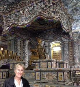 Emperor Khai Dinh's 'flash' tomb.
