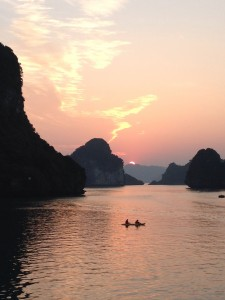 Sunset and tranquility of Hạ Long Bay