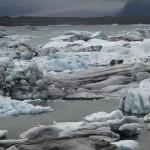 Jökulsárlón and bergie bits from Breiöamerkurjökull ice cap.