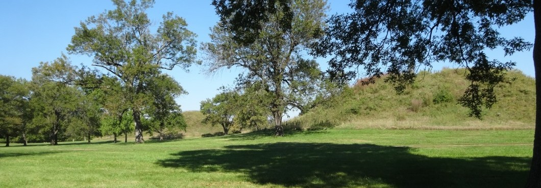Twin Mounds, one platform and one conical and thought to be burial mound