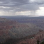 Storms engulfing the Grand Canyon