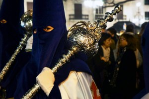 A young Nazareno during Semana Santa